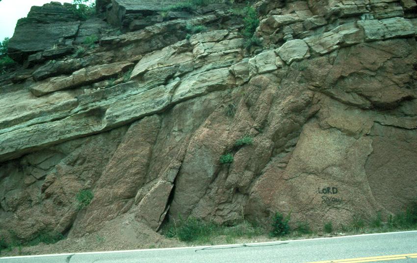 Image of roadcut