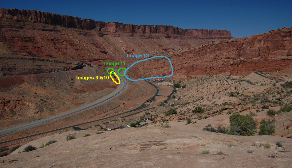 View from Arches National Park, marked