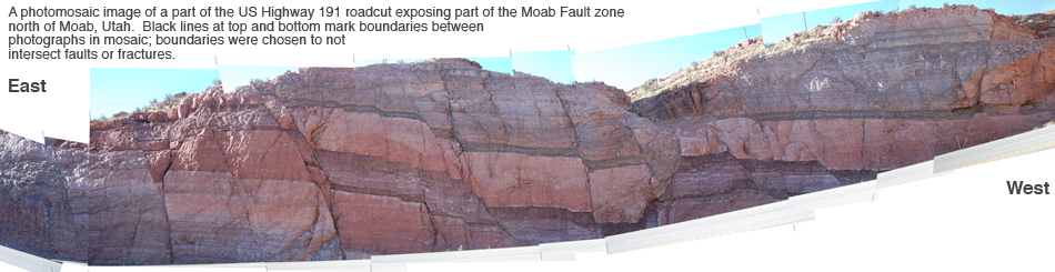 Exposure of small faults along US 191