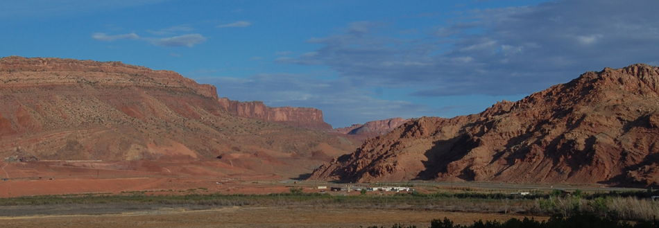 View from north end of Moab